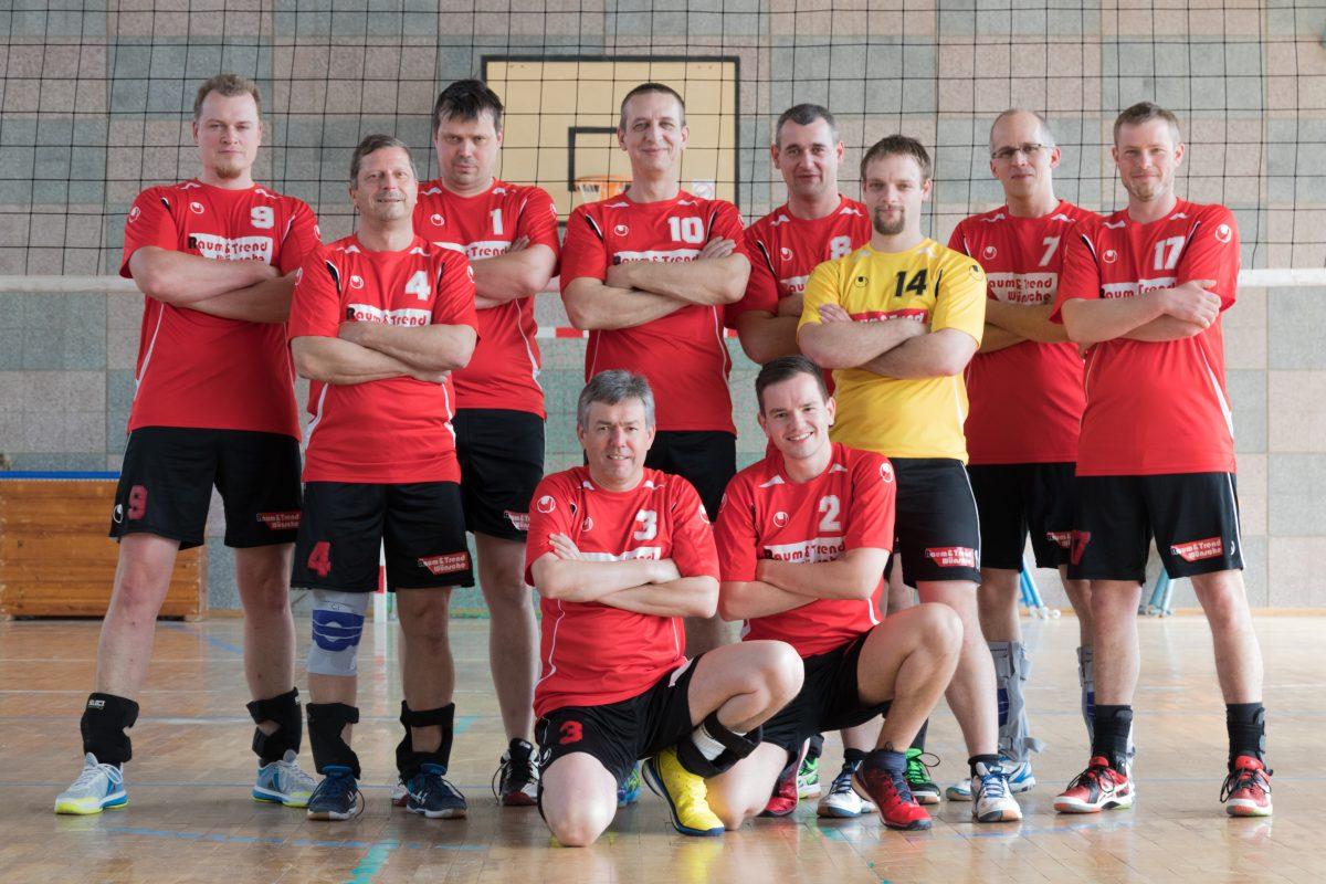 Mannschaftsfoto der Männermannschaft des SV Valtenberg 2017/2018